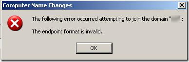 joindomain error