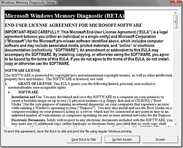 WindowsMemoryDiagnostic