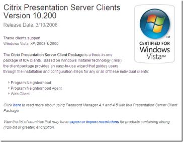 Citrix metaframe presentation server download.