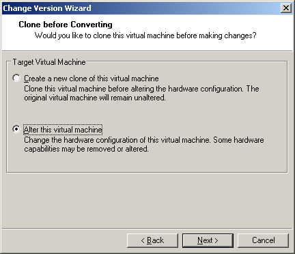 how to change hardware version workstation pro