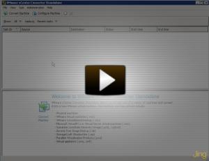 Convert a * VHD with VMware Converter 4 | ICT-Freak nl