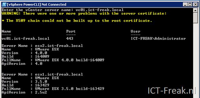 PowerCLI: Get ESX version info   ICT-Freak nl