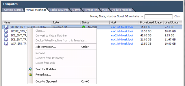 vSphere: Deploy Template grayed out | ICT-Freak nl