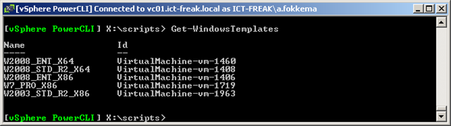 PowerCLI: Move-Template | ICT-Freak nl