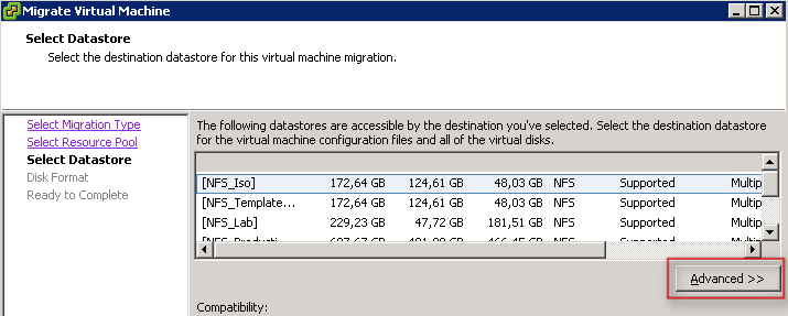 Storage vMotion only one hard disk to another datastore in vSphere ...