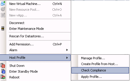 Host Profiles: Ruleset xxxx doesn't match the specification
